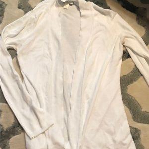 LOFT medium white long sleeve cardigan